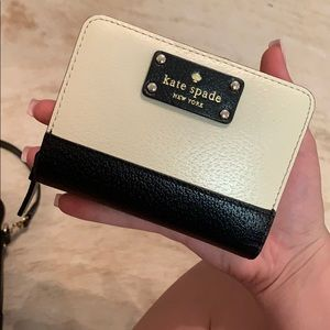 Black and cream Kate Spade wallet